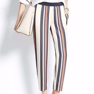 ANN TAYLOR STRIPED CROP PANTS - SIZE S